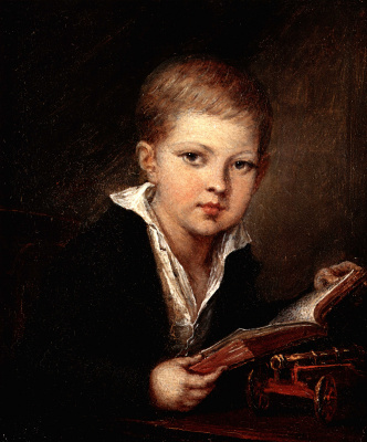 Vasily Andreevich Tropinin. The boy with the gun. Portrait of Prince Mikhail Aleksandrovich Obolensky child