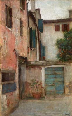 Ramon Casas i Carbó. Courtyard