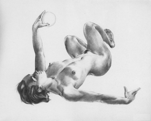 Alexander Alexandrovich Deineka. Lying with a ball