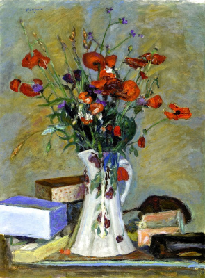 Pierre Bonnard. White vase with flowers
