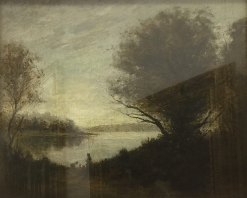 Camille Corot. Landscape with a lake