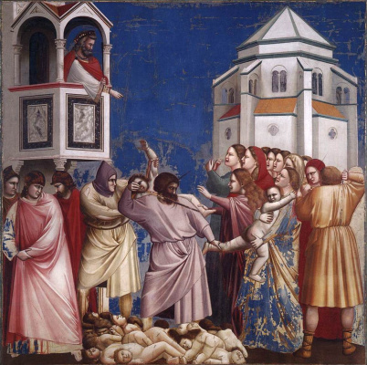 Giotto di Bondone. Massacre of the innocents. Scenes from the life of Christ
