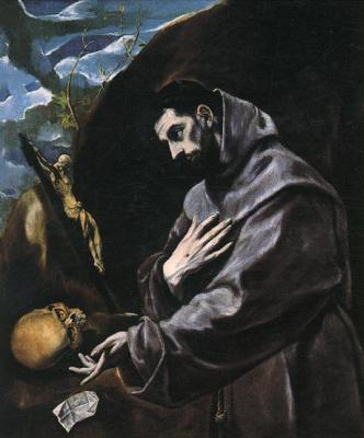 Domenico Theotokopoulos (El Greco). Prayer Of St. Francis