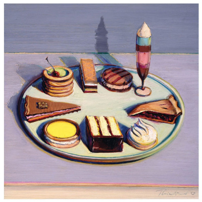 Wayne Thibaut. A tray of desserts