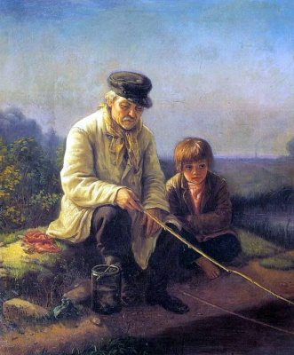 Vasily Grigorievich Perov. Fishing