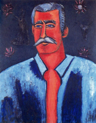 Marsden Hartley. A man with a mustache
