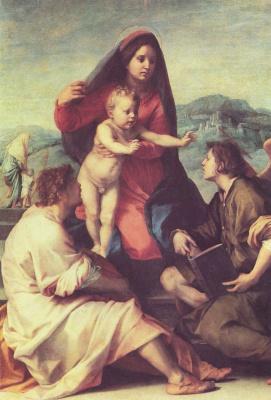 Андреа дель Сарто. Мадонна со святыми и ангелом