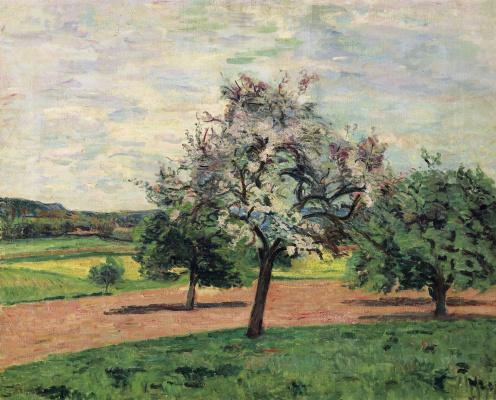 Arman Guillaume. Blooming Apple trees, Ile-de-France