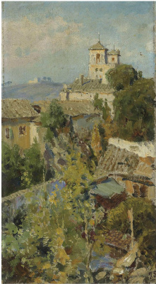 Vasily Dmitrievich Polenov. From the apartment window in Rome