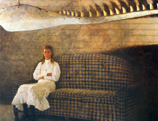 Jamie Wyeth. Woman on sofa