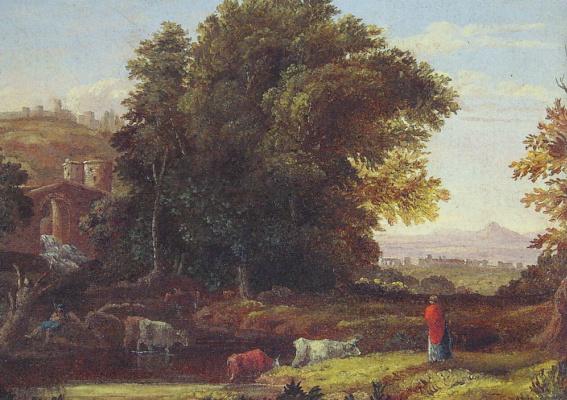 George Innes. Italian landscape with aqueduct