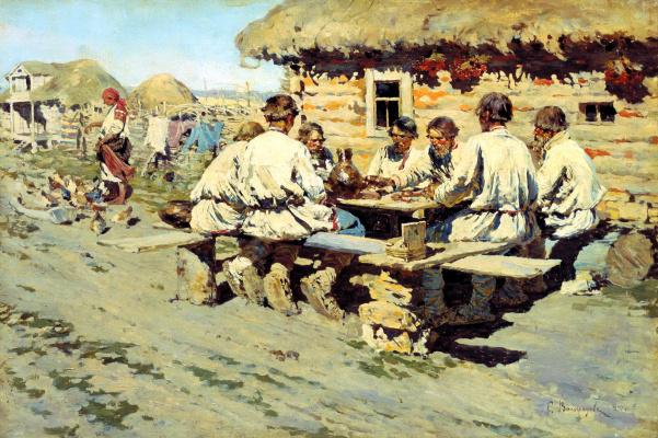 Sergey Arsenievich Vinogradov. Lunch workers
