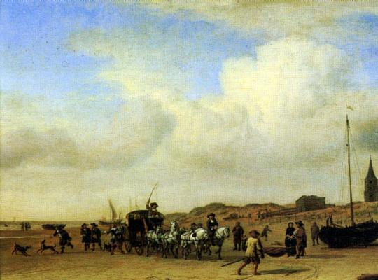 Adrian van de Velde. A tuple in Scheveningen
