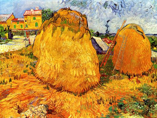 Vincent van Gogh. Haystacks in Provence