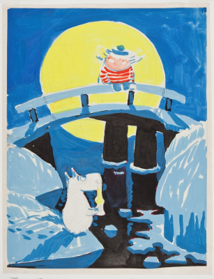 """Tove Jansson. Figure to the story of T. Jansson """"Magic Winter"""""""