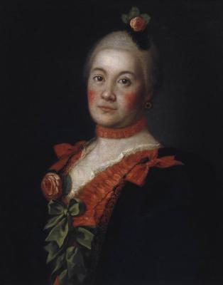 Alexey Petrovich Antropov. Portrait of Princess T. A. Trubetskoy