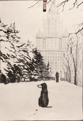 Diana Schegiriova. Dog at MSU