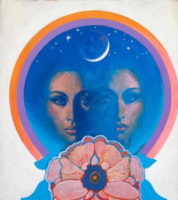 Michael Johnson. Psychedelic Double Portrait