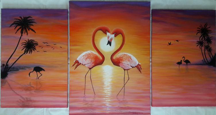 Nadezhda Nikolaevna Kravtsova. Flamingo