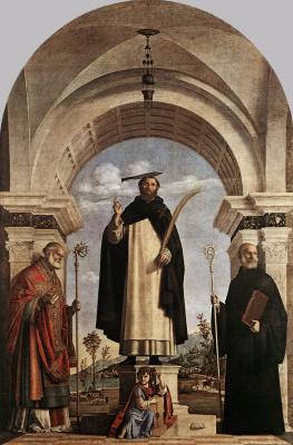Giovanni Battista Cima da Conegliano. St. Peter Martyr with St. Nicholas