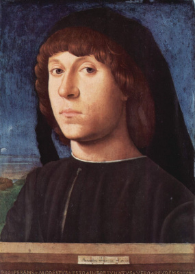 Antonello da Messina. Portrait of a man