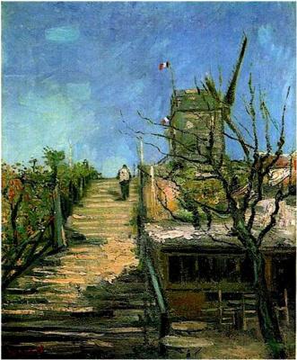 Винсент Ван Гог. Мельница на Монмартре