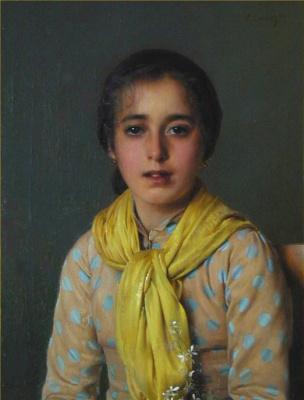 Витторио Коркос. Девочка с желтой шалью
