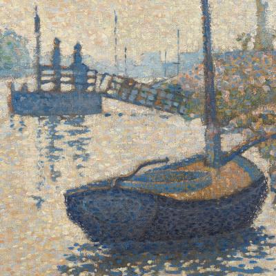 Paul Signac France 1863 - 1935. Ponton La Felicit. Enyer, opus number 143. 1886, October. detail