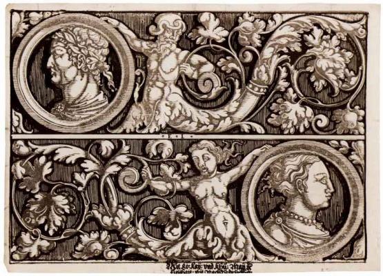 Эразм Луа (Лой). Орнамент с медальонами