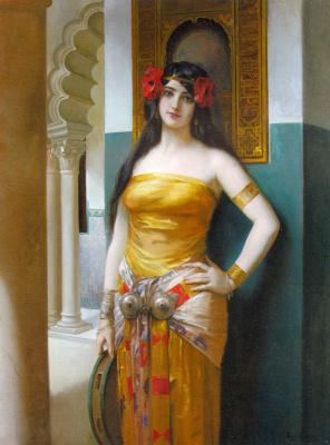 Leon Francois Comerre. Oriental beauty