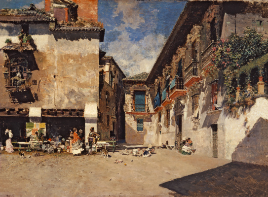Mariano Fortuni-i-Carbo. Old city hall of Granada