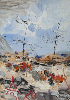 Anatoly Zverev. Sailing boats