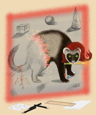 Olga Vasilievna Potapova. Ferret artist 2