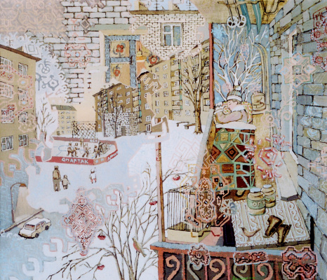 Алексей Петрович Акиндинов. Boy's dream of courtyards