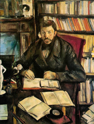 Paul Cezanne. Portrait Of Gustave Geffroy