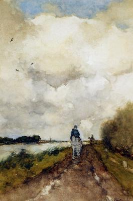 Jan Hendrik Weissenbrook. A rider on a path Near North