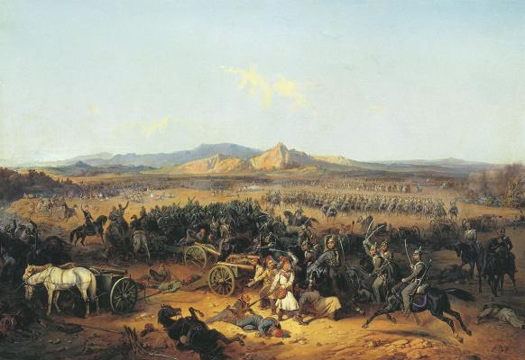 Bogdan Pavlovich Willewalde. Cavalry attack at Bashkadyklar on November 10, 1853 1855