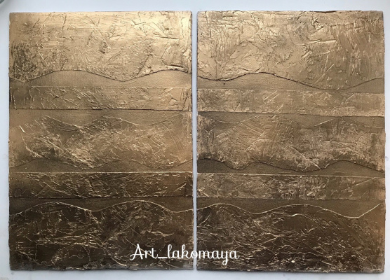 "Olga Lakomaya. Diptych ""Golden Dreams"""