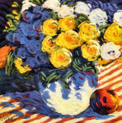 Бернард Видал. Цветы в вазе
