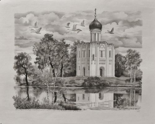 "Василий Васильевич Тимофеев. ""Покрова на Нерли"""