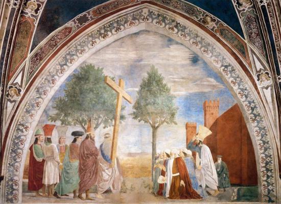 Пьеро делла Франческа. Воздвижение Креста Господня