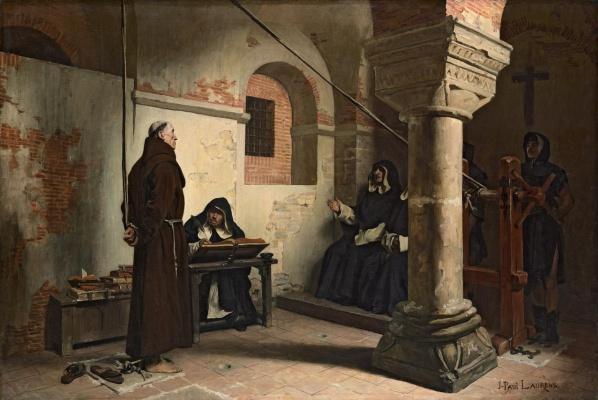 Жан-Поль Лоранс. Бернар Делисьё в трибунале инквизиции.
