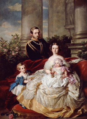 Franz Xaver Winterhalter. The family of the crown Prince and crown Princess Friedrich Wilhelm of Prussia