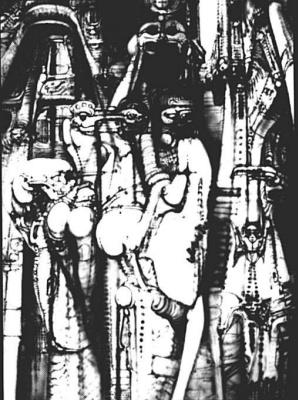 Hans Rudolph Giger. Sketch
