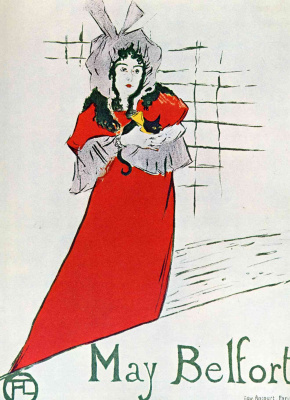 Henri de Toulouse-Lautrec. Poster Of May Belfort