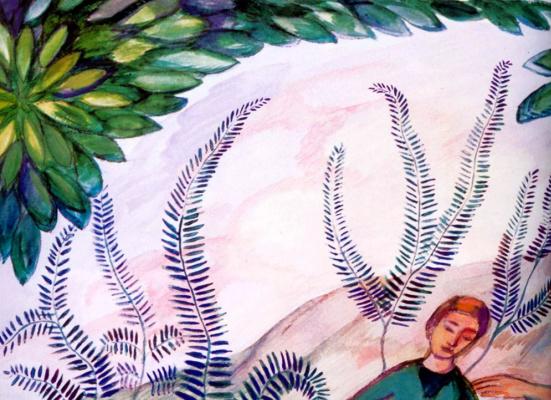 Павел Варфоломеевич Кузнецов. Эскиз росписи стены в доме Я. Жуковского в Кучук-Кое. Фрагмент