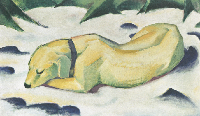 Franz Marc. Dog in the snow