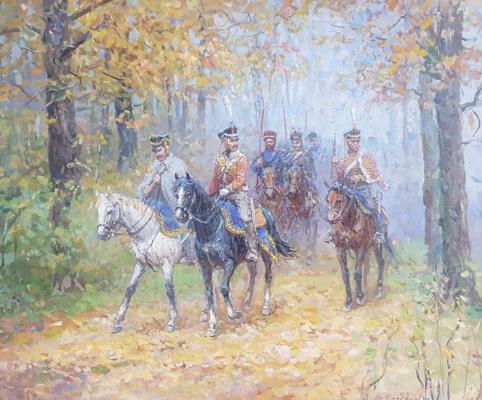Aleksandr Chagadaev. Detachment of Denis Vasilyevich Davydov. 1812 year.