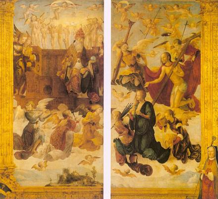 Ганс фон Кульмбах. Спаситель, Богородица и ангелы
