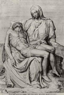 Agostino Carracci. Pieta